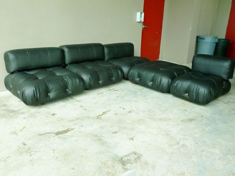 70's Italian B & B Italia Mario Bellini Camaleonda Modular Black Within Bellini Sofas (View 13 of 20)