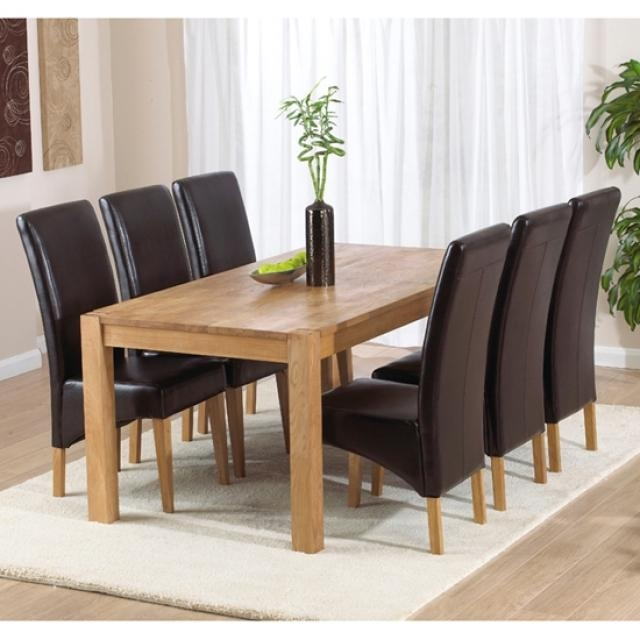 71 Inch Rectangle Dining Table With 6 Chairs Dining Sets Dining In With Regard To 6 Chairs Dining Tables (Image 3 of 20)