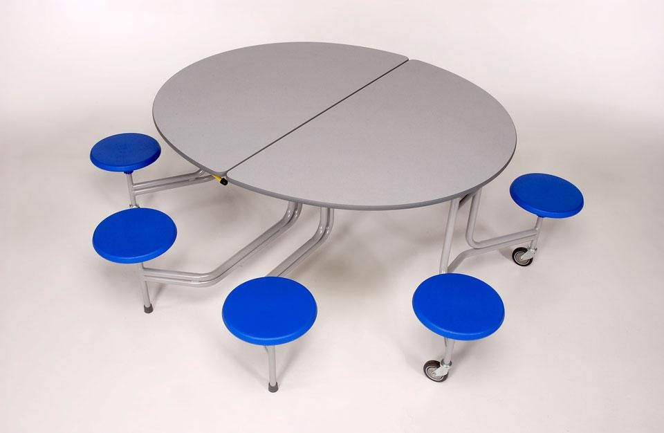8 Seat Graduate Oval Mobile And Folding Dining Tables – Welsh With Regard To Oval Folding Dining Tables (Image 5 of 20)