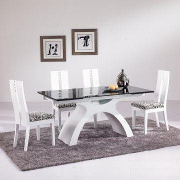8 Seater Extendable Glass Dinner Table Set Glass Table Top, Wood With Regard To Extending Glass Dining Tables And 8 Chairs (Image 1 of 20)