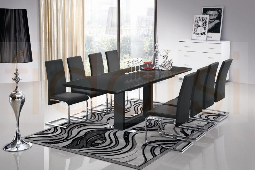 8 Seater Glass Dining Table Uk » Gallery Dining Pertaining To 8 Seater Black Dining Tables (View 1 of 20)