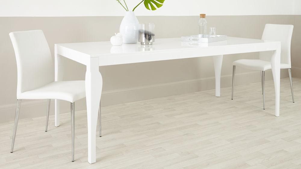 8 Seater Modern Dining Table |White Gloss | Uk Delivery Throughout White 8 Seater Dining Tables (Image 2 of 20)