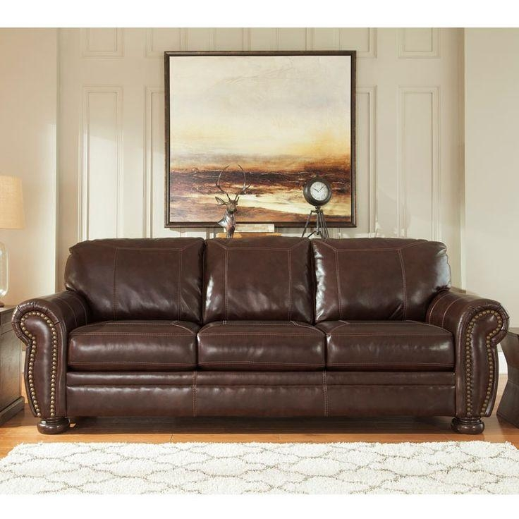 81 Best Leather Love Images On Pinterest | Mattress, Sofas And Couch Within Brown Leather Sofas With Nailhead Trim (Image 4 of 20)