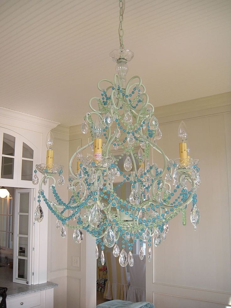 82 Best Blue Chandeliers Images On Pinterest In Turquoise Beads Sixlight Chandeliers (Image 5 of 25)