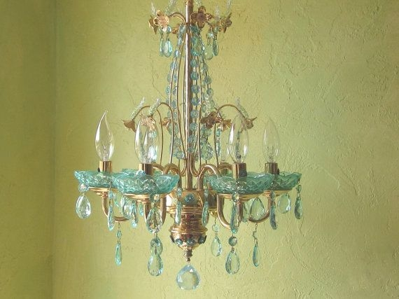 82 Best Blue Chandeliers Images On Pinterest With Regard To Turquoise Gem Chandelier Lamps (Image 13 of 25)