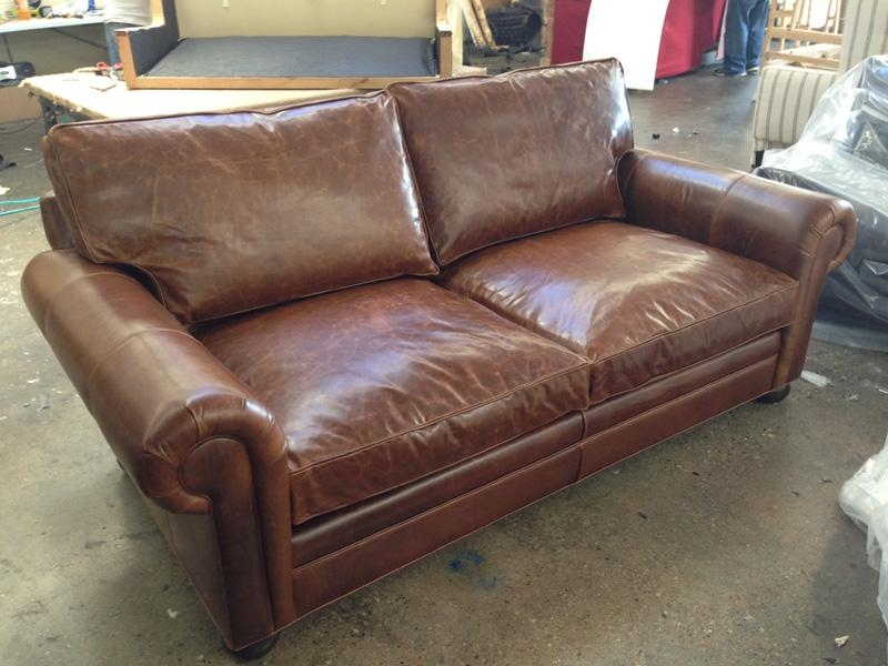 84″ And 108″ Langston Leather Sofas In Brompton Classic Vintage Regarding Brompton Leather Sofas (Image 3 of 20)