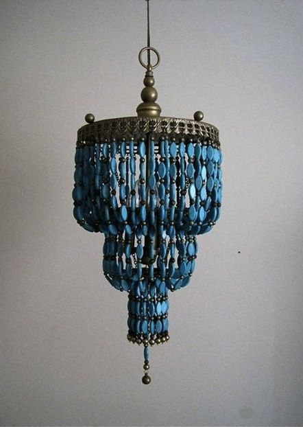 86 Best Make Chandeliers Images On Pinterest Chandeliers Beaded Intended For Turquoise Beads Sixlight Chandeliers (Image 7 of 25)