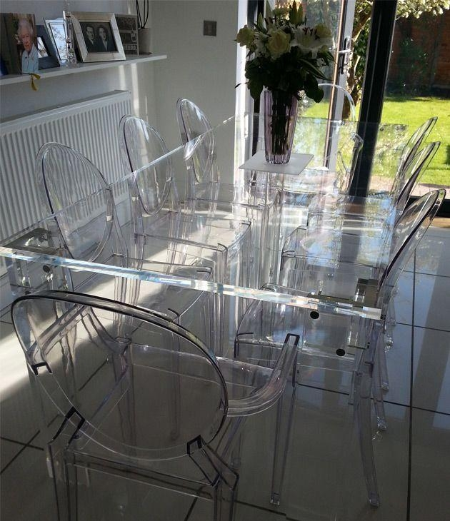 87 Best Clear See Thru Furniture Images On Pinterest | Acrylic With Regard To Acrylic Dining Tables (Photo 9 of 20)