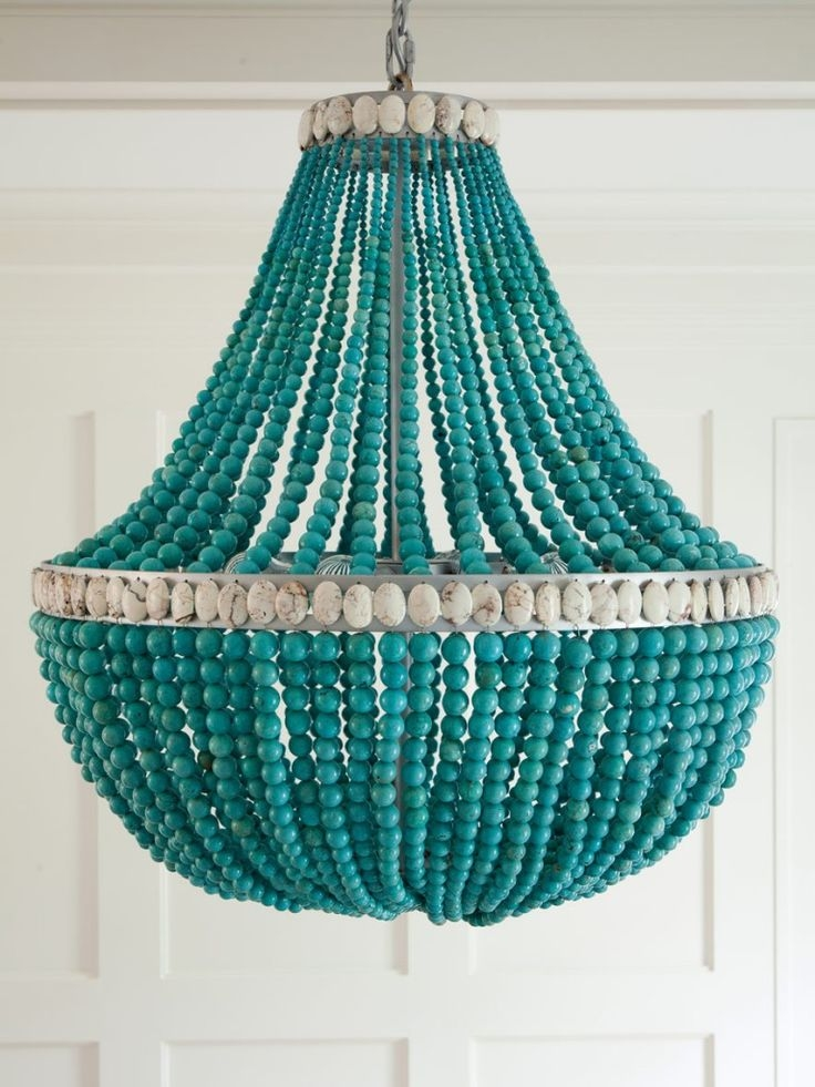 87 Best Light Fixtures Images On Pinterest Pertaining To Turquoise Blue Beaded Chandeliers (Image 4 of 25)