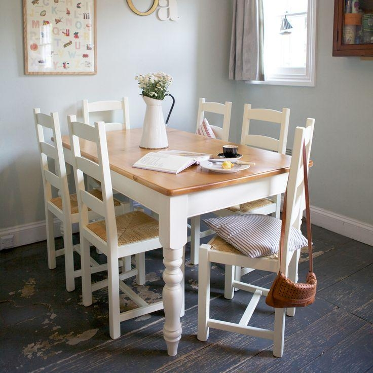 9 Best Kitchen Table Images On Pinterest | Painted Kitchen Tables Inside Ivory Painted Dining Tables (Image 1 of 20)