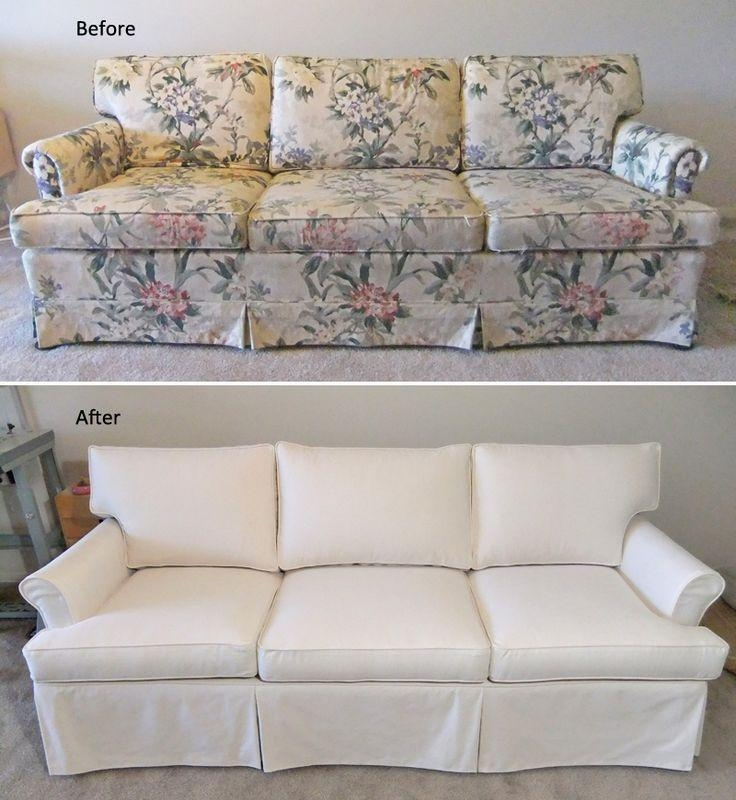 9 Best Sherry's Sofa & Chair Slipcovers Images On Pinterest Regarding Canvas Slipcover Sofas (Image 1 of 20)