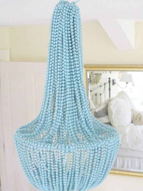 96 Best Diy Chandeliers Images On Pinterest Home Diy And Inside DIY Turquoise Beaded Chandeliers (Image 9 of 25)