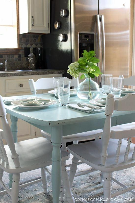 99 Best Dining Tables & Chairs – Chalk Paint Ideas Images On In Ivory Painted Dining Tables (Photo 6 of 20)