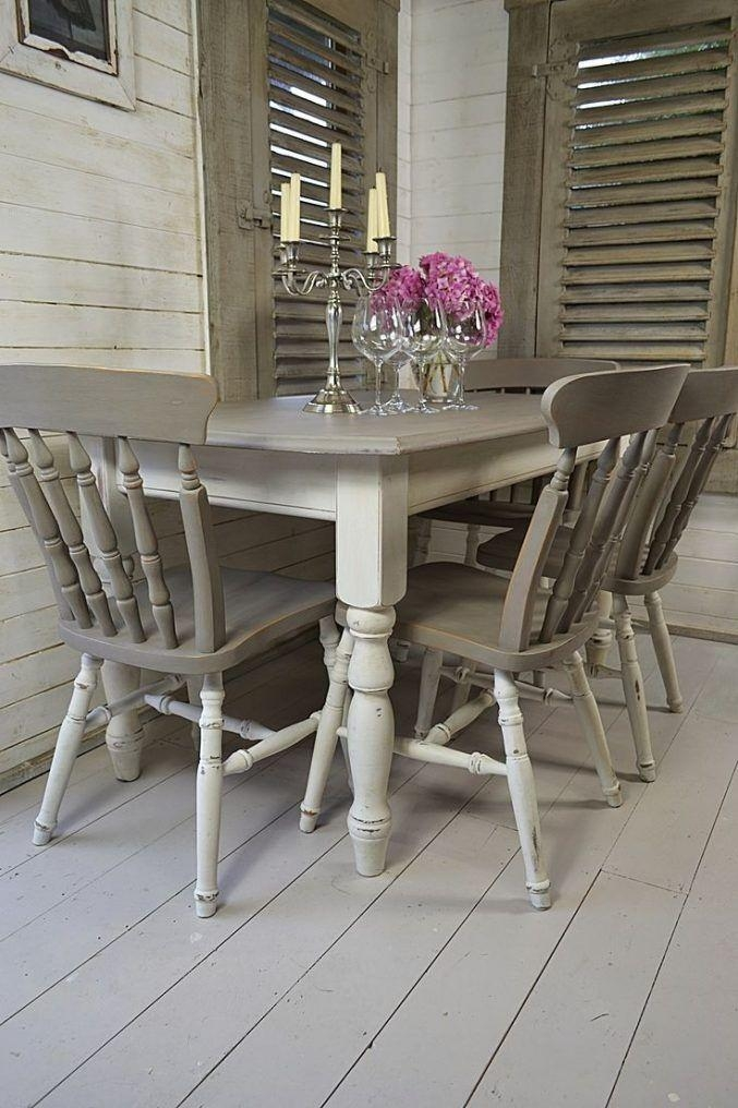 99 Best Dining Tables & Chairs – Chalk Paint Ideas Images On Intended For Ivory Painted Dining Tables (Image 3 of 20)