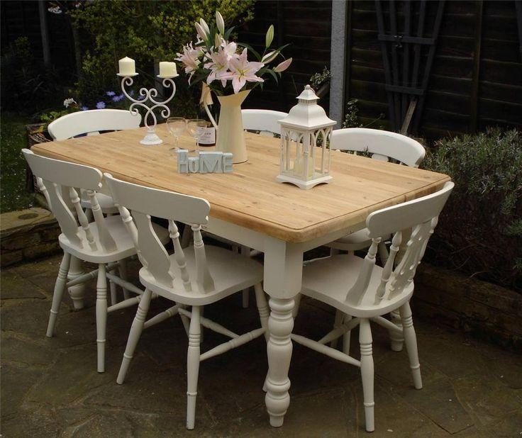 99 Best Dining Tables & Chairs – Chalk Paint Ideas Images On Pertaining To Shabby Chic Cream Dining Tables And Chairs (Image 3 of 20)