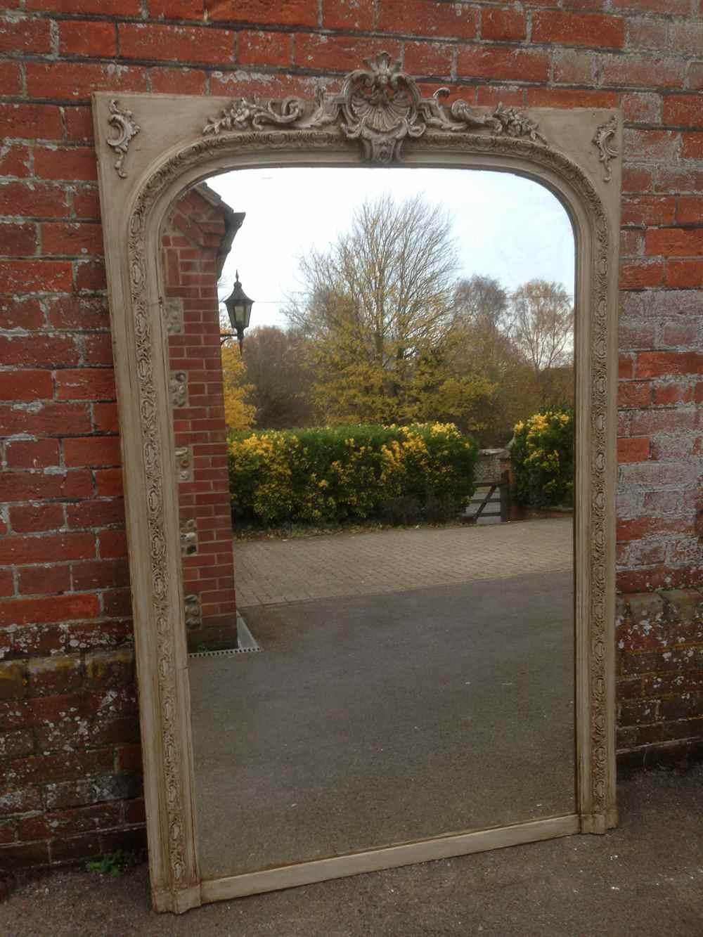 A Beautiful Large Antique 19Th Century French Carved Wood & Gesso Throughout Antique Mirrors Large (Image 1 of 20)
