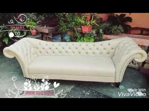 A Classic 4  Seater Cleopatra Sofa – Youtube Within Cleopatra Sofas (Image 2 of 20)