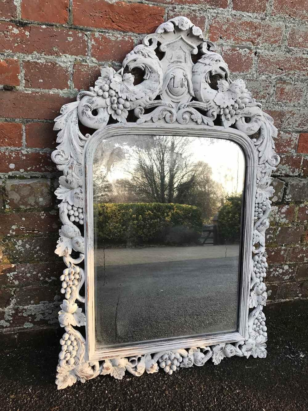 A Delightful Early Highly Decorative Antique 19Th Century French In Ornate French Mirrors (Image 2 of 20)