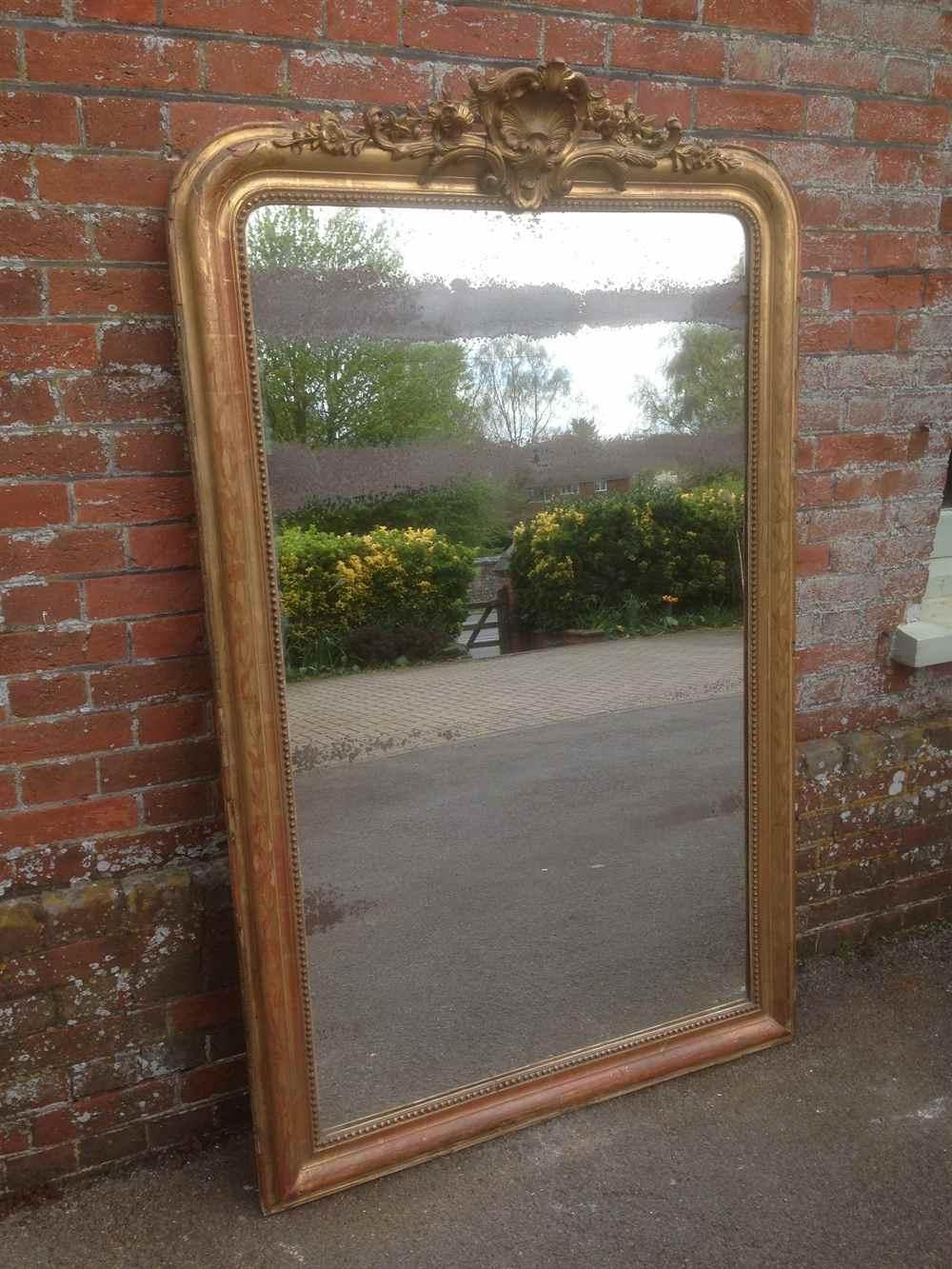 A Fabulous Highly Decorative Large Antique 19Th Century French Throughout Large Gilt Mirror (Image 1 of 20)