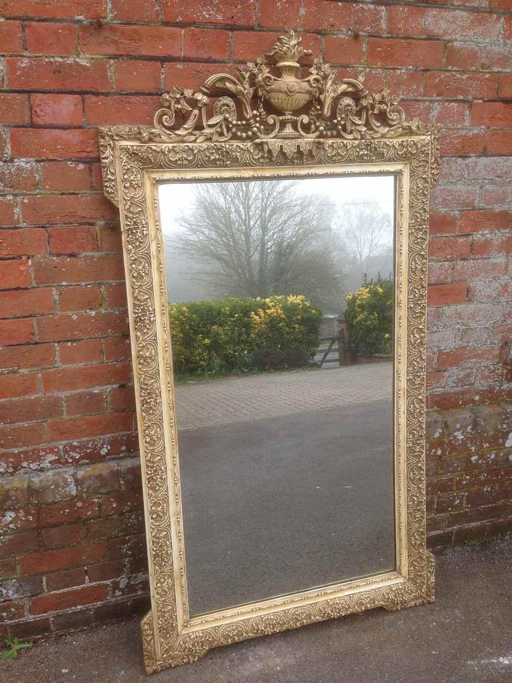 A Fabulous Large Antique 19Th Century French Original Cream Mirror With Regard To Antique Cream Mirror (Image 6 of 20)