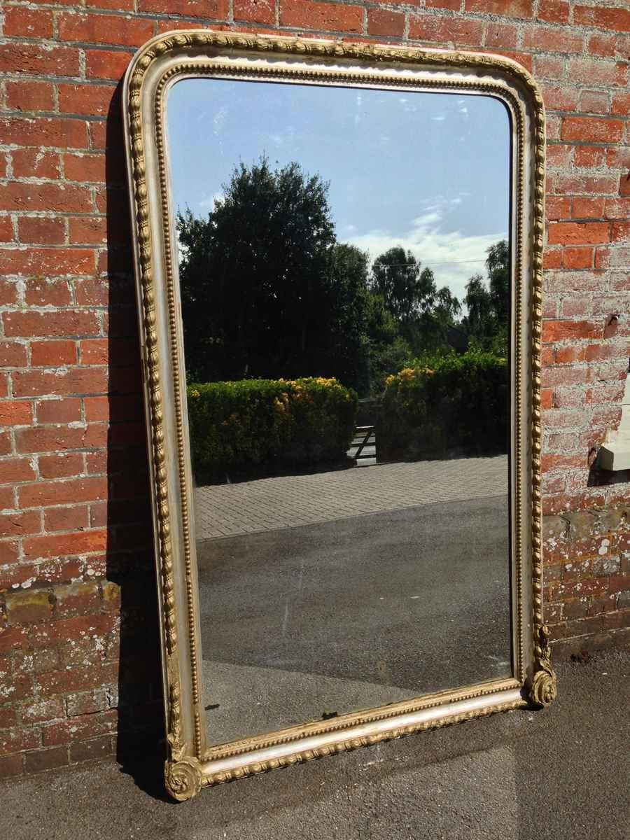 A Fabulous Large Highly Decorative French Antique 19Th Century With Curved Top Mirror (Image 2 of 20)