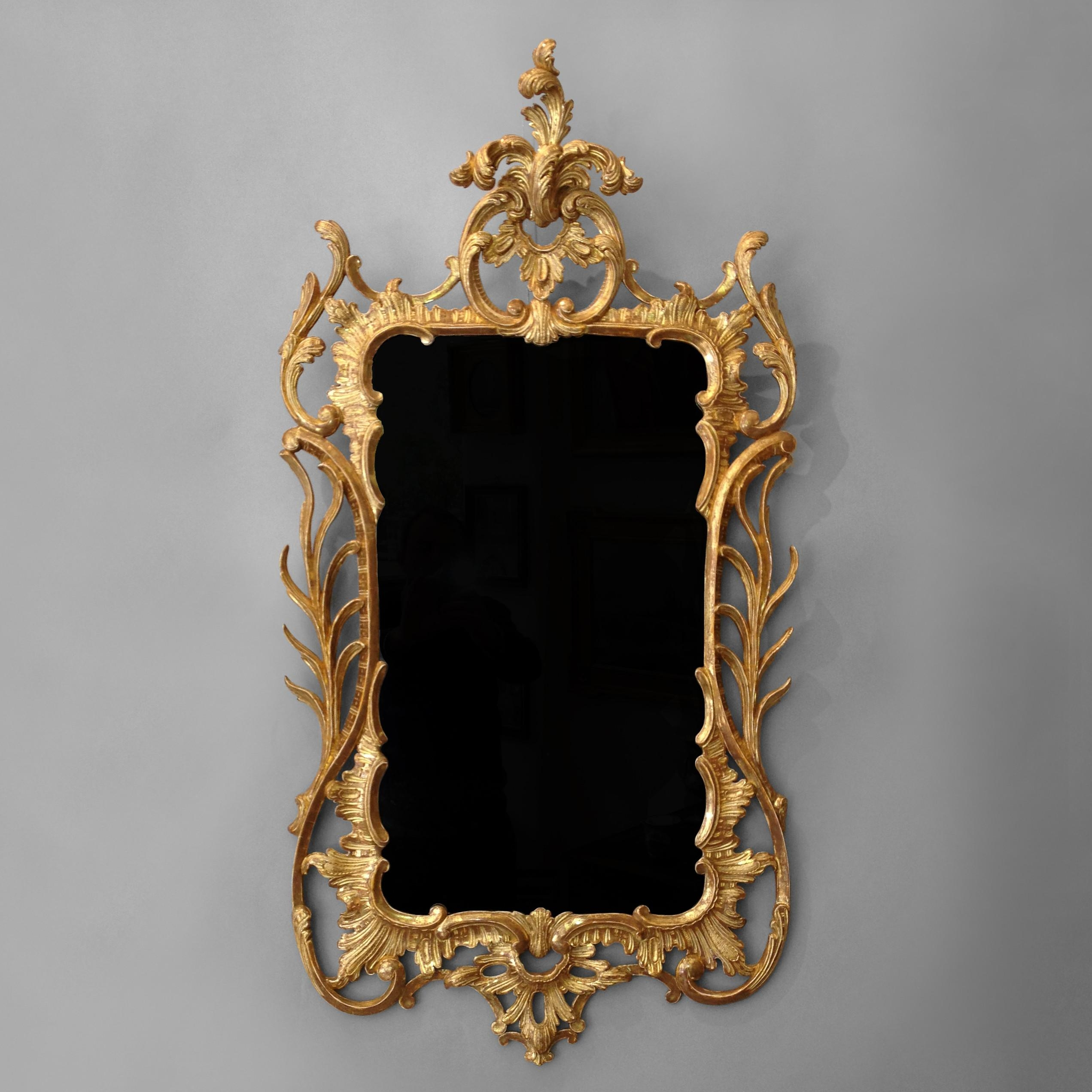 A George Iii Giltwood Rococo Mirror – Timothy Langston Within Gold Rococo Mirror (Image 6 of 20)