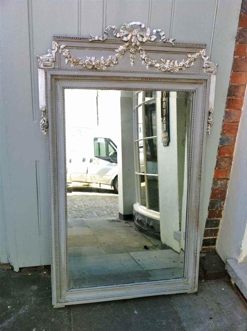 A Highly Decorative Antique French Ribbon Painted Mirror Intended For French Mirrors Antique (Image 3 of 20)