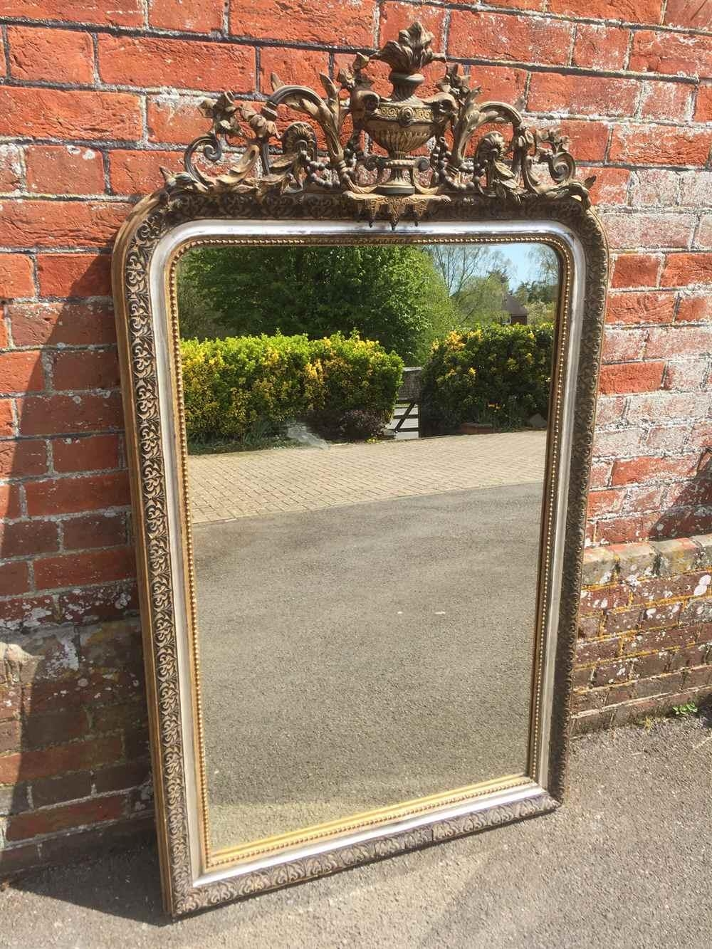 A Highly Unusual Large Antique 19Th Century French Carved Wood For French Mirrors Antique (Image 4 of 20)