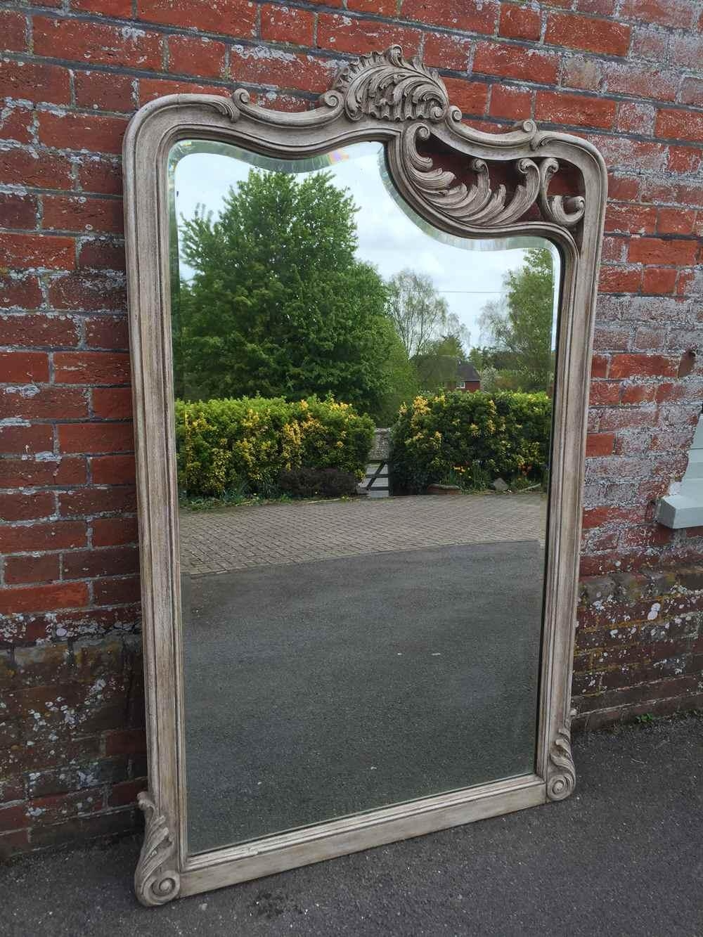 A Highly Unusual Large Antique 19Th Century French Carved Wood With Unusual Large Mirrors (Image 4 of 20)