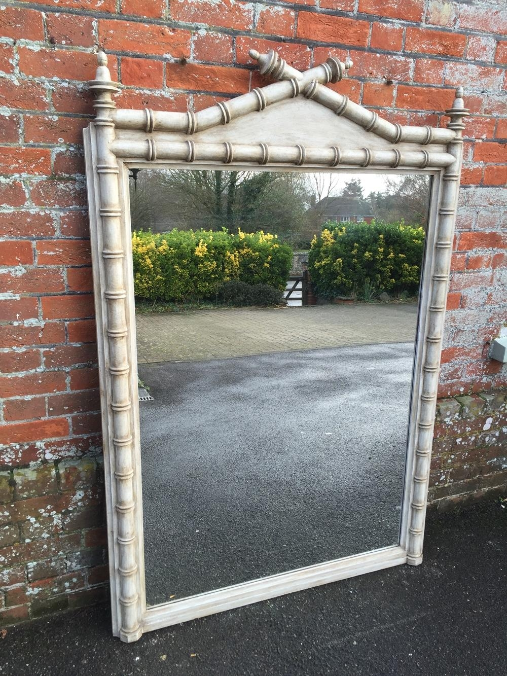 A Highly Unusual Large Antique 19Th Century French Painted Carved With Regard To Unusual Large Mirrors (Image 5 of 20)
