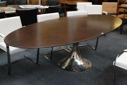 A Julian Chichester Dakota Dining Table, 21St Century, Elliptical Throughout Chichester Dining Tables (View 9 of 20)