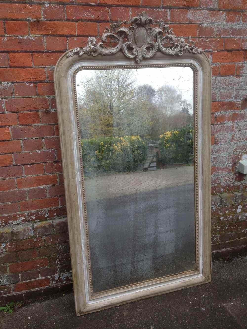 A Large Highly Decorative Antique 19Th Century French Carved Wood With French Mirrors Antique (Image 5 of 20)