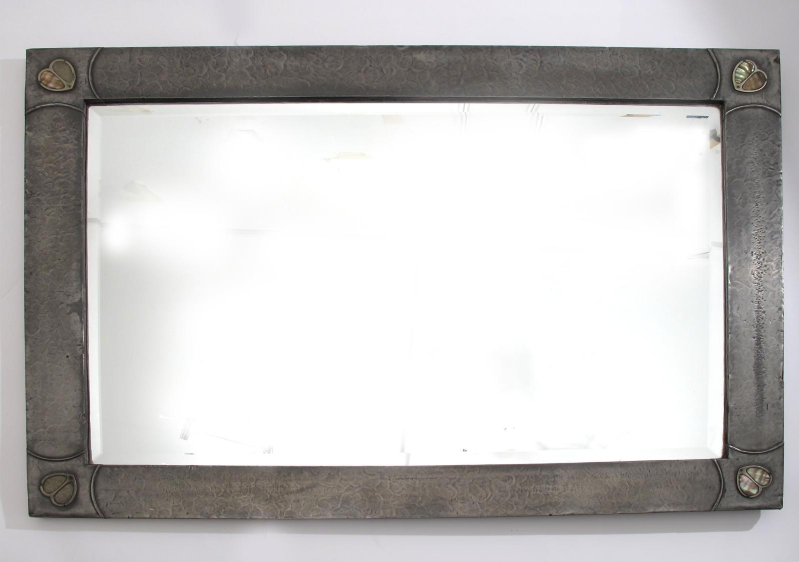 A Large Pewter Mirror Probably Retailedliberty & Co – Lot 589 With Large Pewter Mirror (Image 1 of 20)