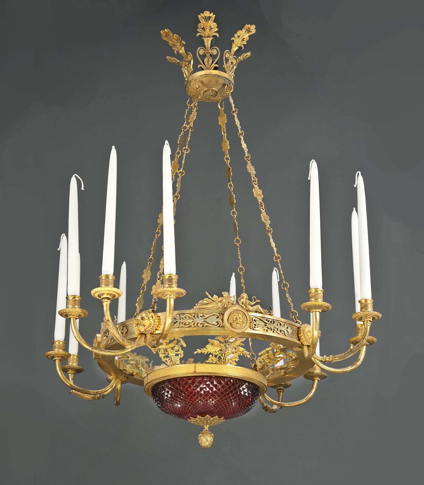 A Matched Pair Of Important And Rare Russian Empire Chandeliers Throughout Turquoise Empire Chandeliers (Image 5 of 25)