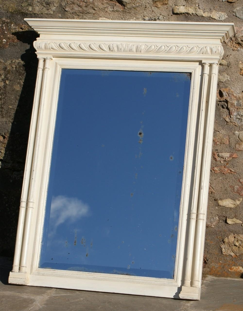 A Pretty French Henri Ii Revival Shabby Chic Painted Mirror In French Shabby Chic Mirror (Image 3 of 20)