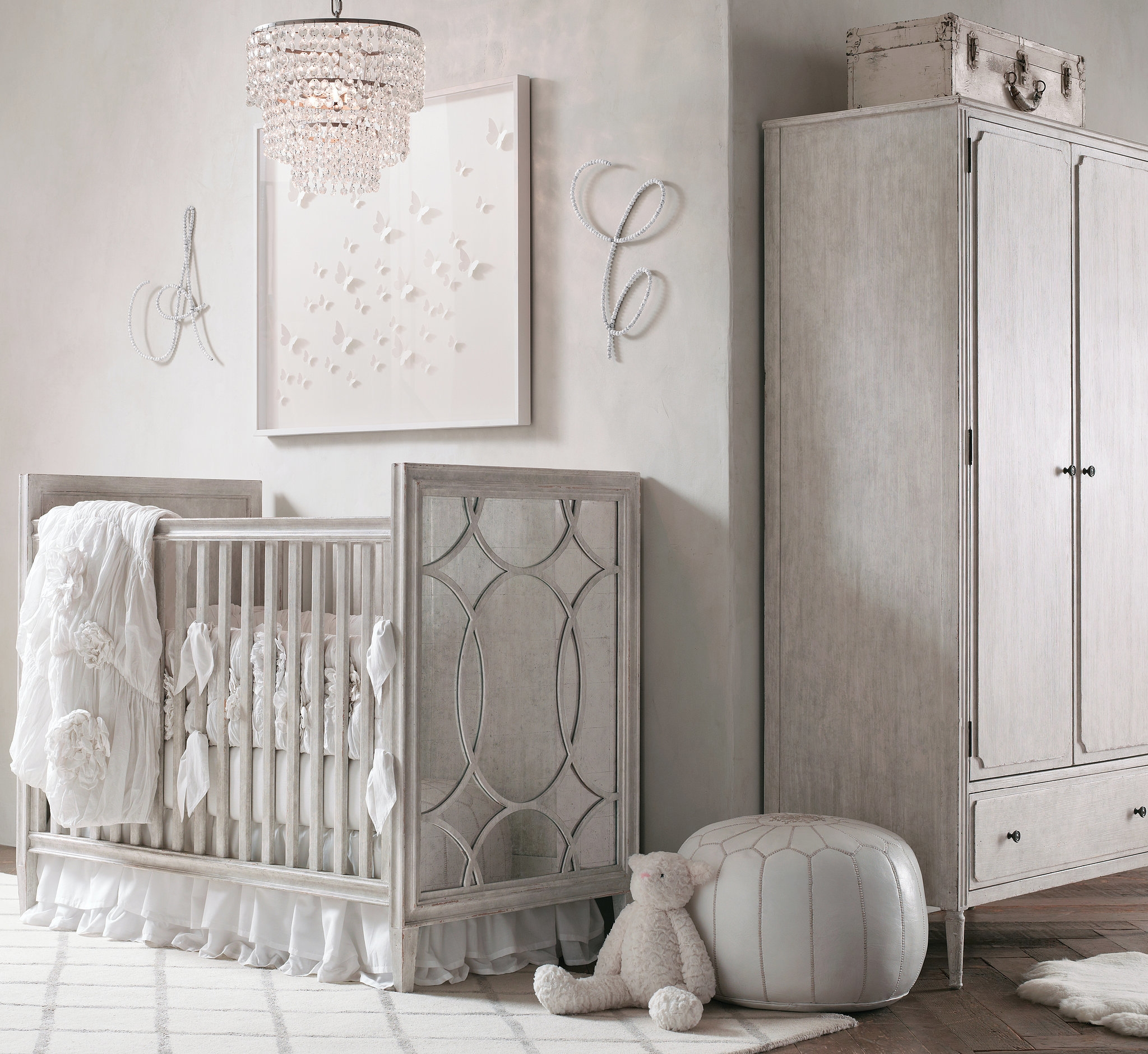 A Soft Glamorous Nursery For A Ba Girl Soho Nursery And Babies Intended For Chandeliers For Girl Nursery (View 21 of 25)