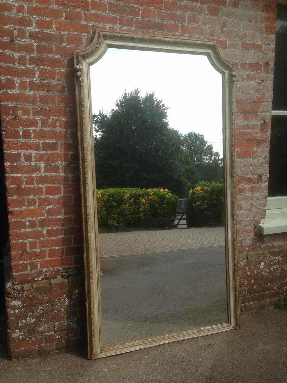 A Stunning Extra Large Antique 19Th Century French Carved Wood Throughout Extra Large Floor Standing Mirrors (Image 2 of 20)