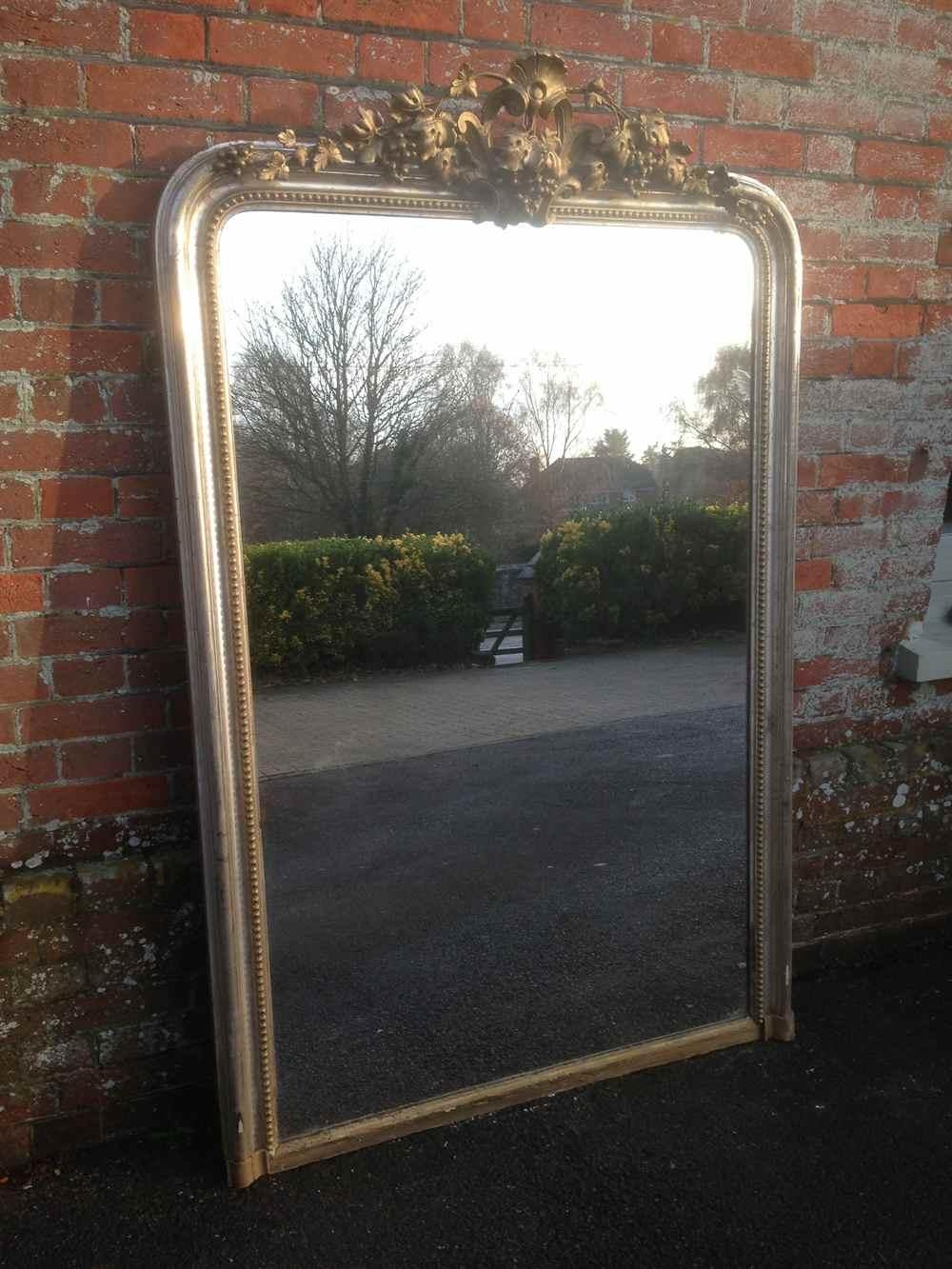 A Stunning Highly Unusual Large Early Antique Original 19Th Pertaining To Unusual Large Mirrors (Image 8 of 20)