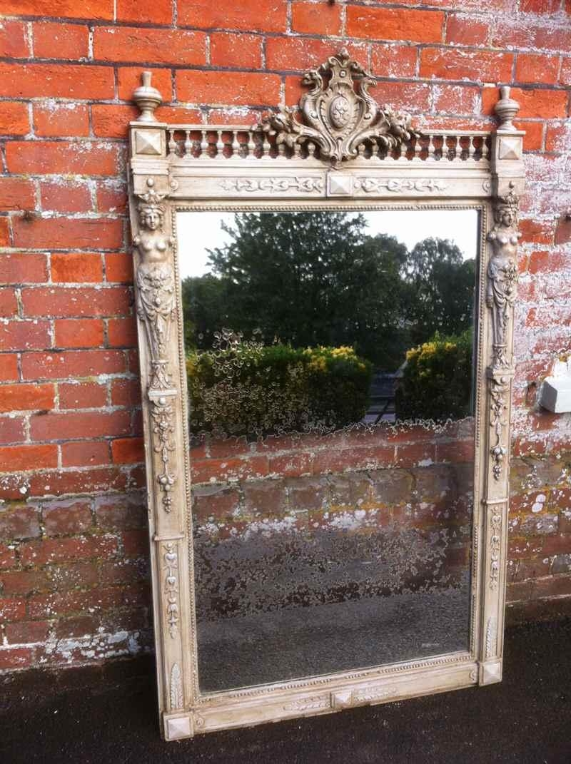 A Stunning Unusual Large Early Antique Carved Wood And Gesso With Regard To Unusual Large Mirrors (Image 9 of 20)