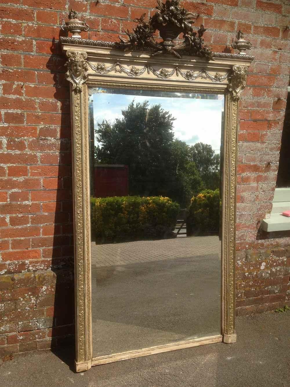 A Stunning Very Decorative Very Large Antique 19Th Century French With Antique Mirrors Large (Image 2 of 20)