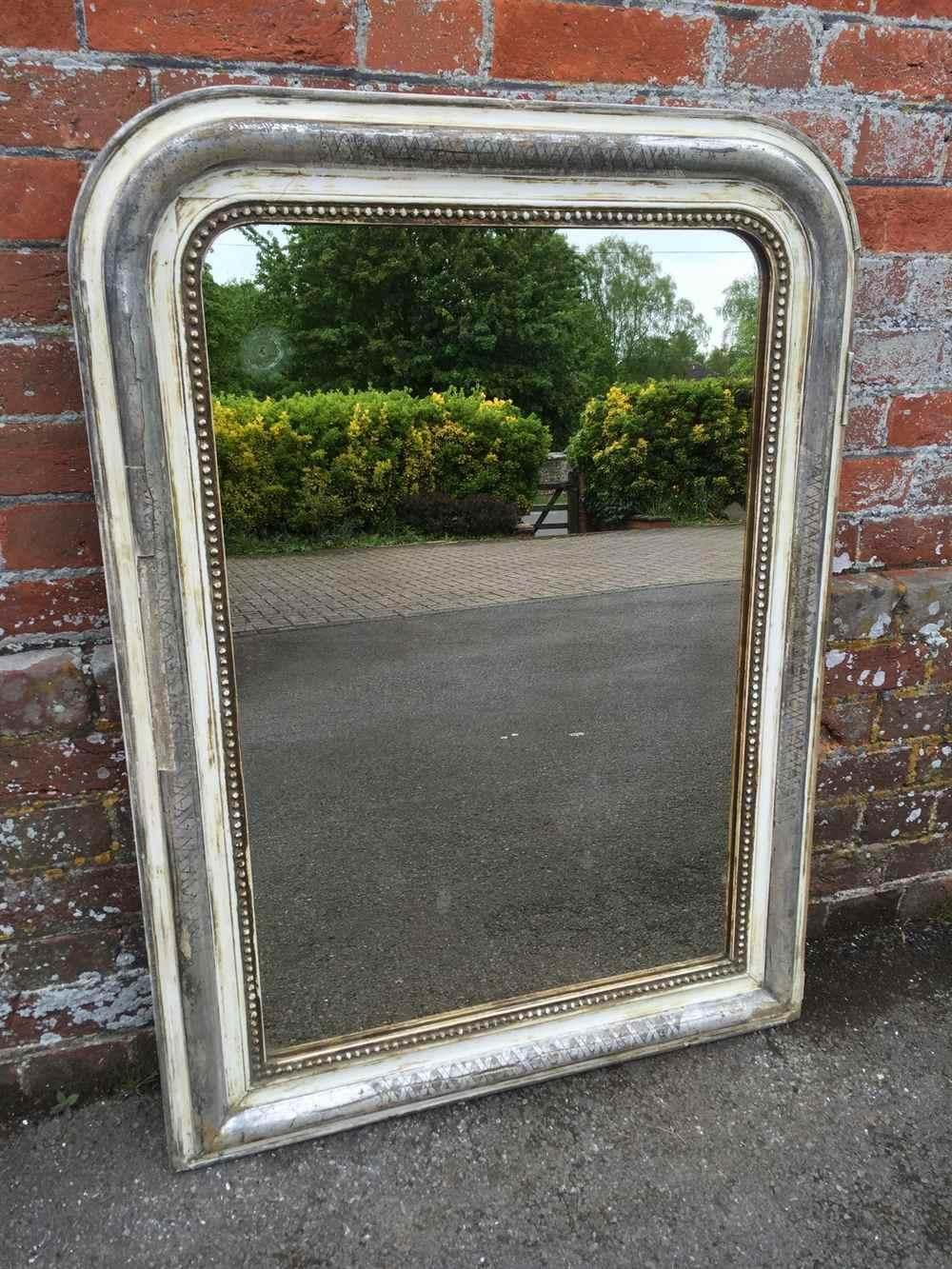 A Very Decorative Useful Size Antique 19Th Century French Original With Regard To Curved Top Mirror (Image 6 of 20)