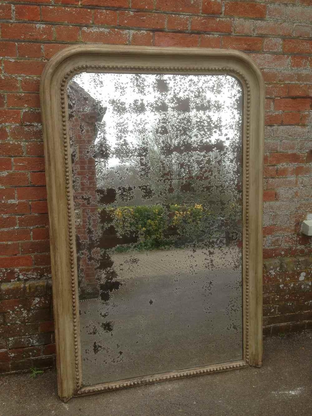 A Very Impressive Large Antique 19Th Century Distressed Mirror With Regard To Antique Mirrors Large (Image 3 of 20)