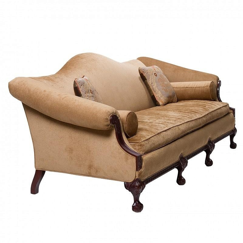 A Vintage Chippendale Camel Back Sofa » Northgate Gallery Antiques Within Chippendale Camelback Sofas (Image 7 of 20)