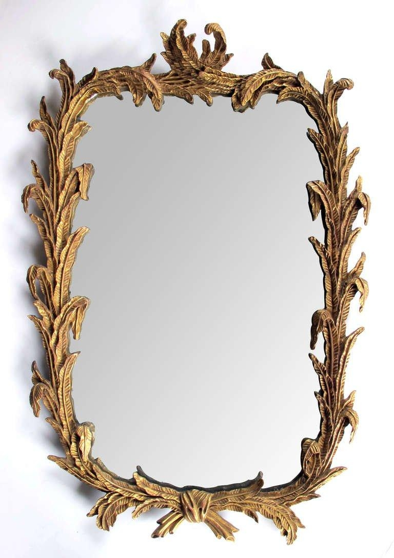 A Well Carved French Rococo Style Giltwood Mirror With Foliate Inside French Rococo Mirror (Image 9 of 20)