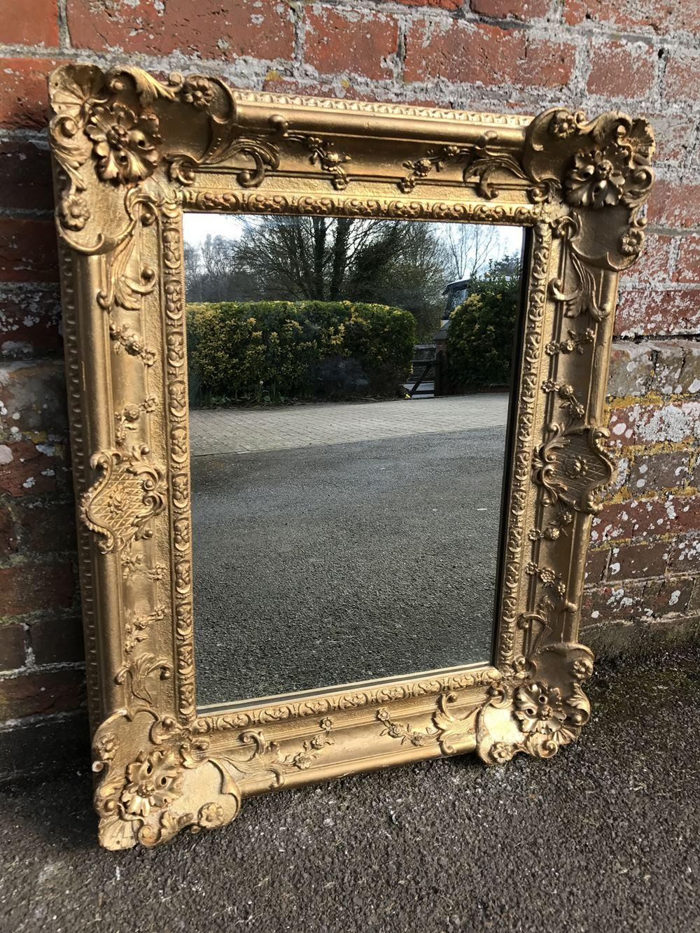 A Wonderful Antique 19Th Century French Carved Wood And Gesso Intended For French Mirrors Antique (Image 7 of 20)