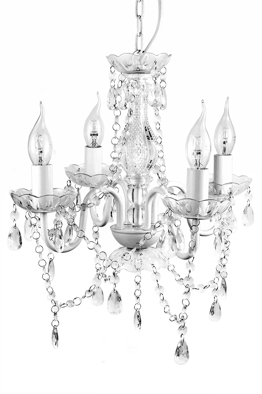 A2s Gypsy Crystal Chandelier Small Black 4 Arm H18 W15 In Small Gypsy Chandeliers (Image 3 of 25)