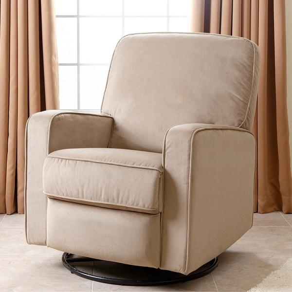 Abbyson Bella Beige Fabric Swivel Glider Recliner Chair – Free Regarding Abbyson Recliners (View 8 of 20)