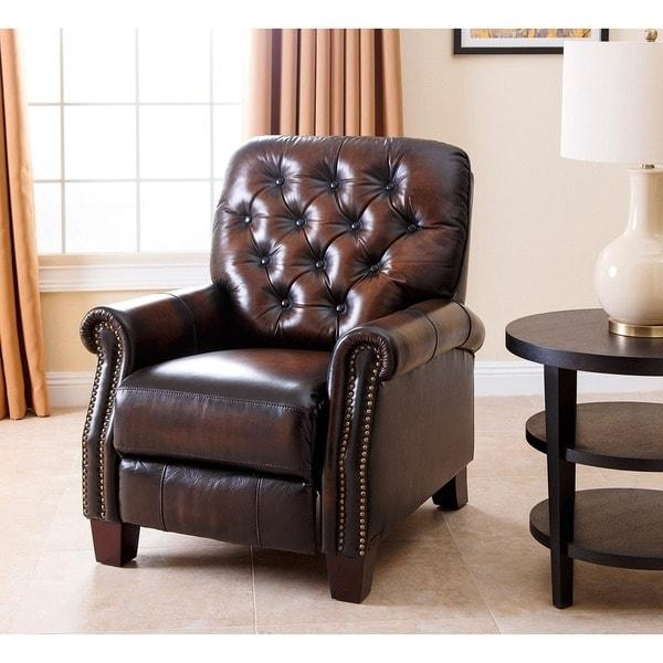 Abbyson Camden Hand Rubbed Leather Pushback Recliner – Free Inside Abbyson Recliners (View 3 of 20)