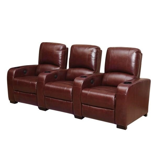 Abbyson Jackson Burgundy Power Media Recliners – Free Shipping Throughout Abbyson Recliners (Image 8 of 20)