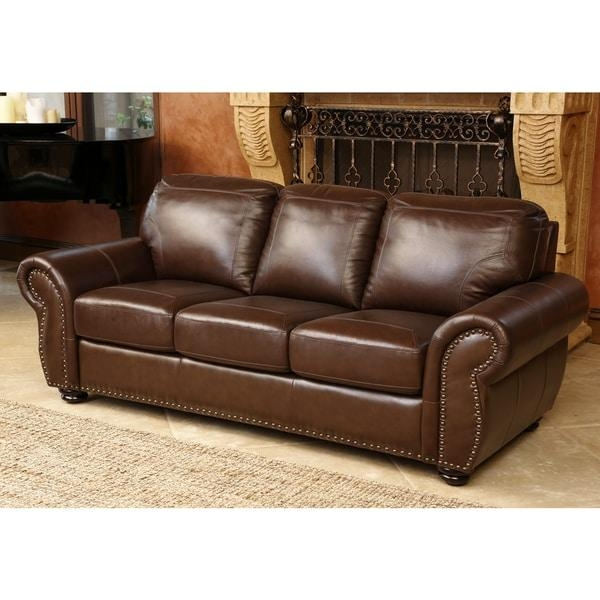 Abbyson Living Bellavista Top Grain Leather Sofa – Free Shipping For Abbyson Living Sofas (View 8 of 20)